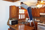 we clean your kitchen cabinets, and dust all the hard to reach places